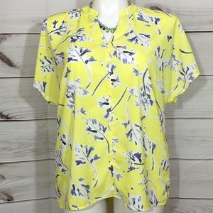 CAbi Yellow & Blue New Stevie Top Style #5213